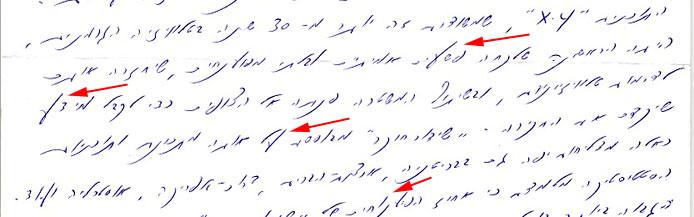 כתב ידו של רפי גינת